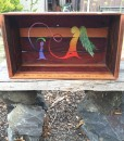 Upcycled jarrah shelf/box 2