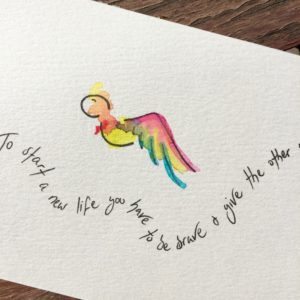 Be Brave ~ original postcard