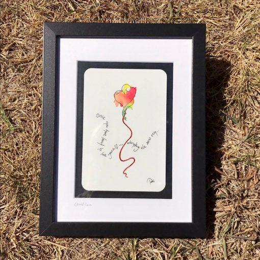 Learnt Love ~ framed original postcard