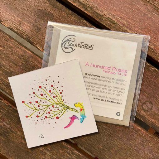 A Hundred Roses ~ mini gift cards