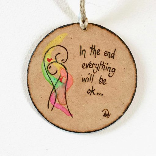 In The End ~ ink & pyrography on wood