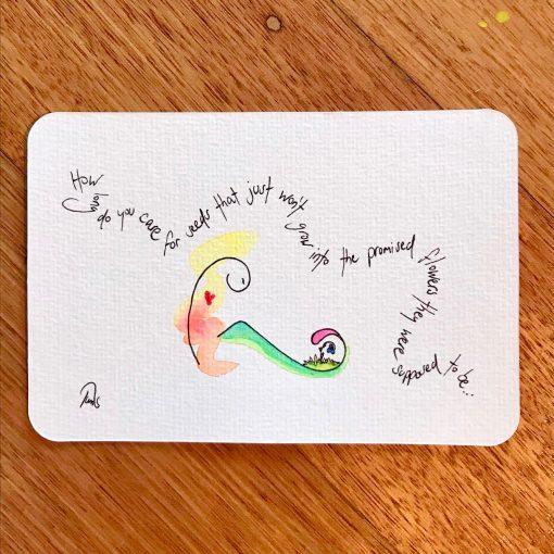 Hope for Growth ~ original postcard